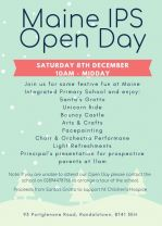 School Open Day - 8th December 10am - 12 midday